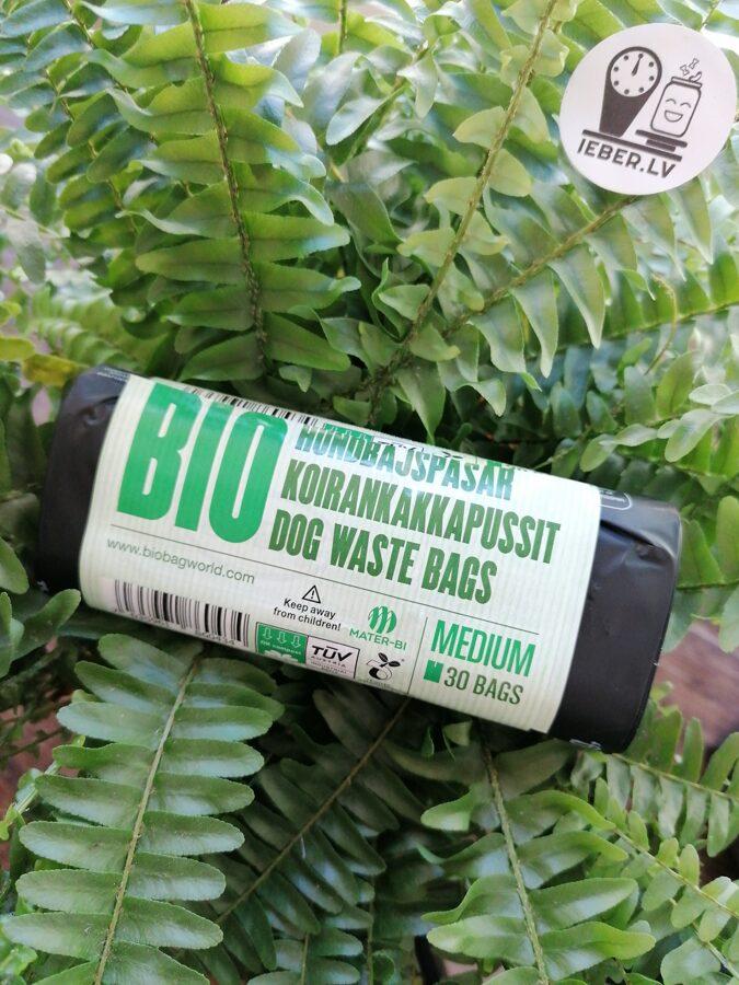 Bioplastmasas maisiņi suņu izkārnījumiem