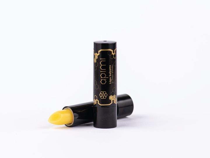 Lūpu balzams ar aveņu aromātu - sastāvā bišu vasks un propoliss, Apimi 1gb