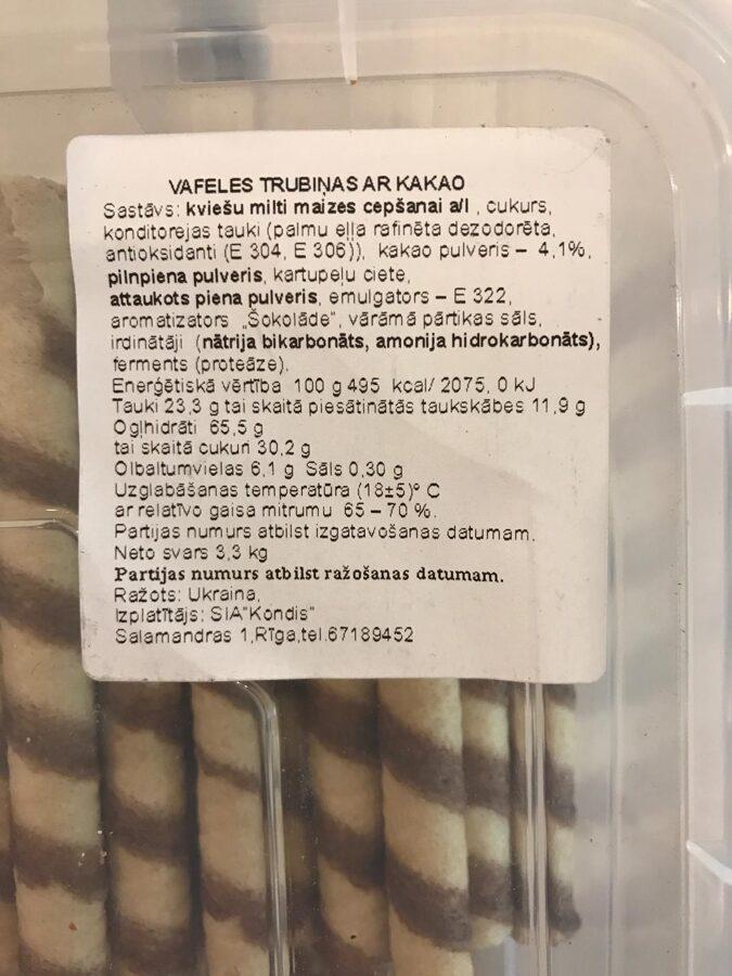 Vafeļu stobriņi 100g