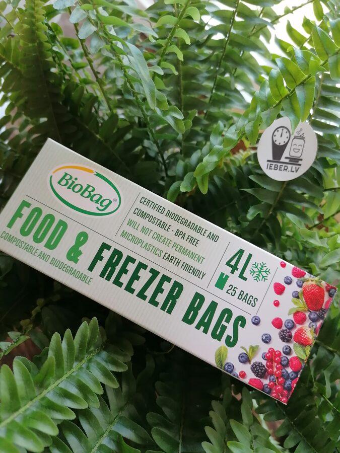 Biobag 4L produktu uzglabāšanas un saldēšanas maisiņi