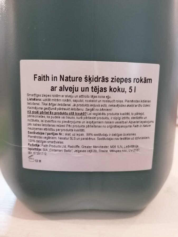 Faith in nature šķidrās ziepes ar alveju un tējas koka ēterisko eļļu 500ml