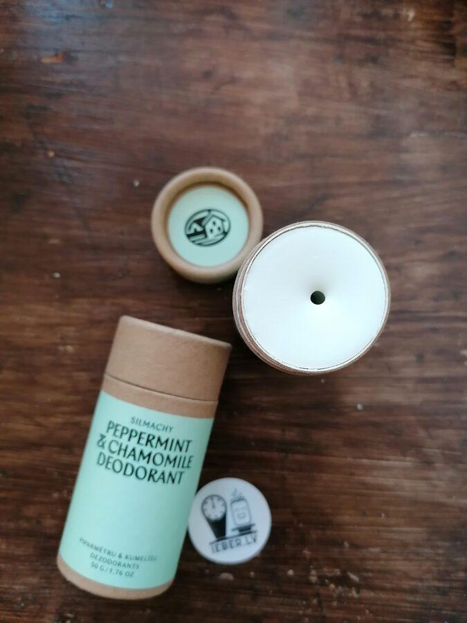 Piparmētru un kumelīšu dezodorants