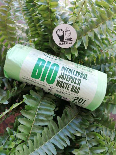 biobag 20L bioloģiski kompostējami atkritumu maisi