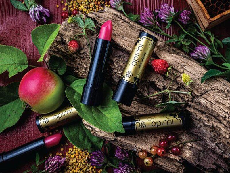 Lūpu spīdums - sastāvā bišu vasks un propoliss, Apimi 1gb