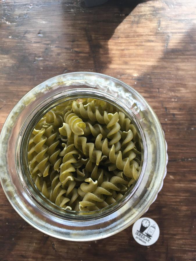 Zaļo zirnīšu makaroni bez glutēna 100g