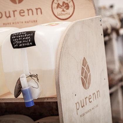 IEBER.LV uzpildām Latvija ražotus eko mājsaimniecības uzkopšanas līdzekļus no Purenn